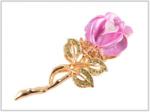 Clé USB Rose en broche - 4 Go