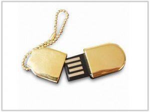 Clé USB Mini dorée - 4 Go