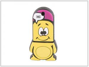 Clé USB Nano Jaune - 4 Go