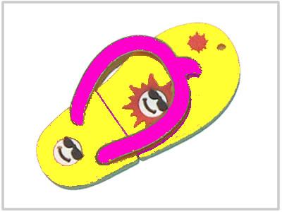Clé USB Tongue Jaune - 2 Go