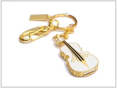 Clé USB Violon d'or en porte-clé - 32 Go