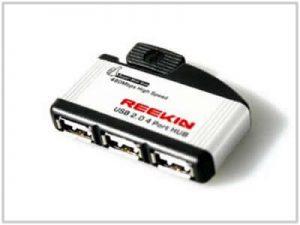 Mini Hub USB Reekin - 4 Ports Aluminium [REEKIN]