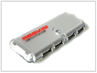 Mini Hub USB Reekin - 4 Ports Transparent [REEKIN]