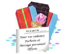 Pochette cadeau assortie Offerte